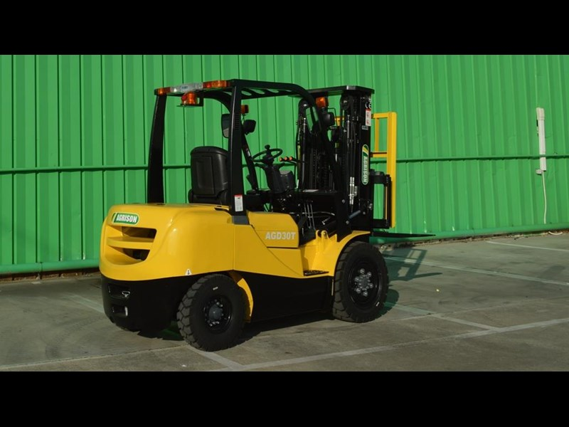 agrison 3 tonne forklift - 3 stage cont. mast - nationwide delivery 505629 023