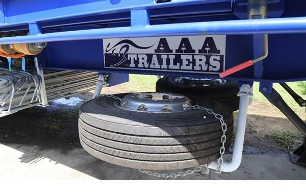 aaa 45' flat deck semi with pins 505232 007