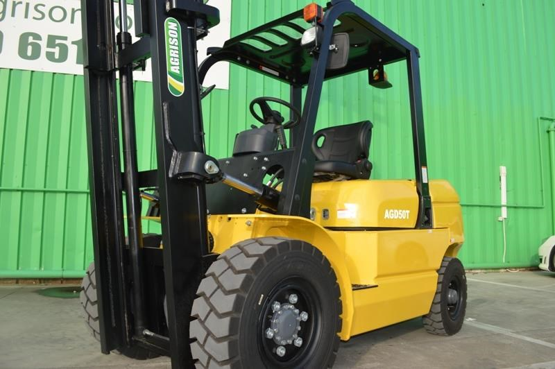 agrison 5 tonne forklift - 3 stage cont. mast - nationwide delivery 505661 027