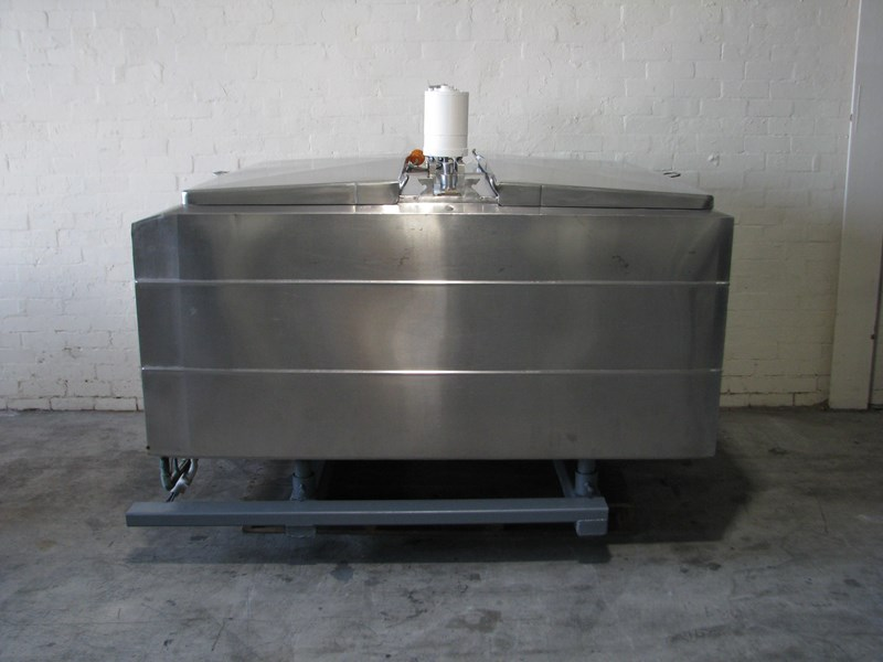 stainless steel jacketed tank vat food grade - 1500l 506060 001