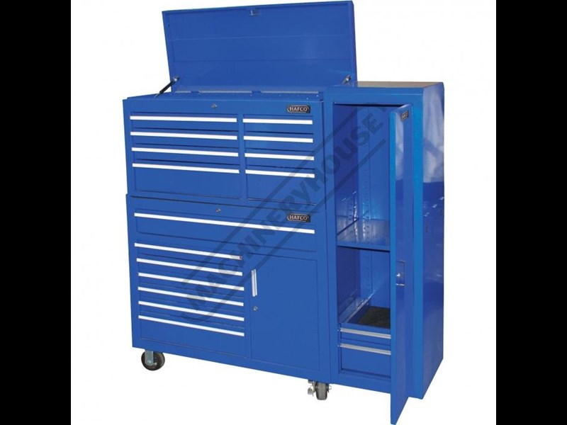 tool chests ich-8d + irc-7d + isl-2d + isc-7d - industrial series tool chest & roller cabinet with side locker & side cabinet package 109016 009