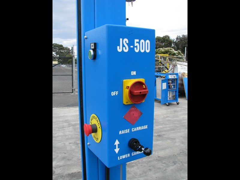 integrated machinery electric manual js-500 pallet stretch wrapper machine 548493 009
