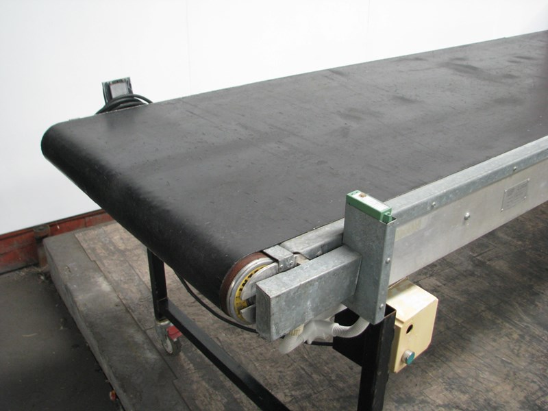 melbourne conveyor company motorised belt conveyor - 4m long 555250 003