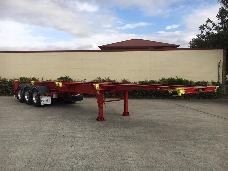 panus retractable skeletal semi trailer 499267 005