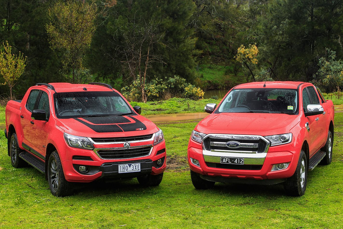 2017 Holden Colorado Z71 vs 2016 Ford Ranger XLT video review | 4X4 Australia