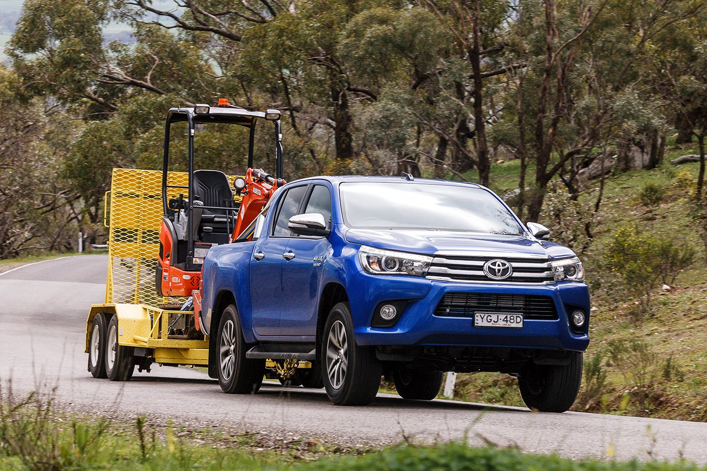 4x4 load and tow test comparison 2016 toyota hilux review 4x4 australia. Black Bedroom Furniture Sets. Home Design Ideas