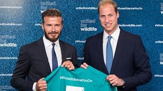 Prince William and David Beckham