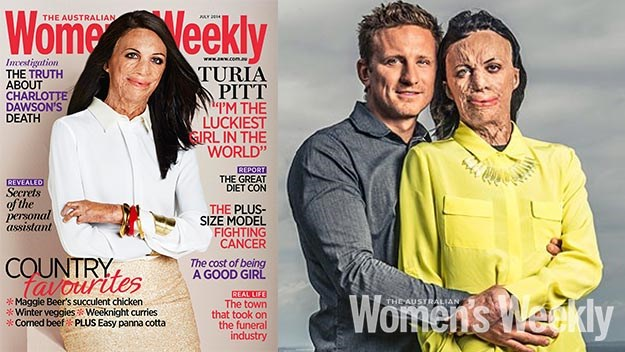 The Weekly's July cover and (right) Turia and her partner Michael Hoskin.