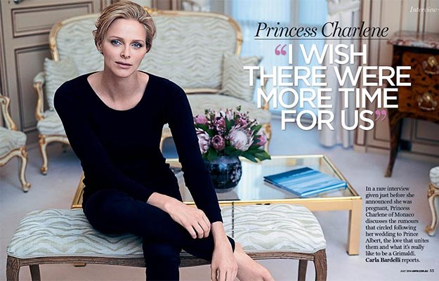 Princess Charlene in the July issue of The Weekly.