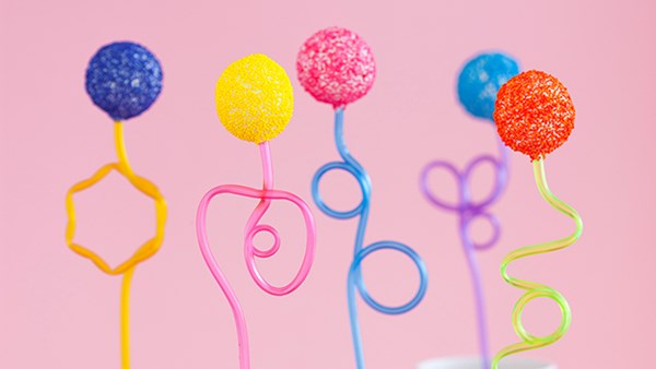 Colourful cake-pops
