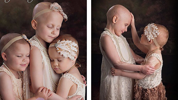 Little girls battling cancer in remission