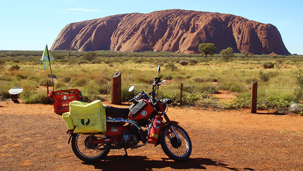 Exploring Australia on a postie bike