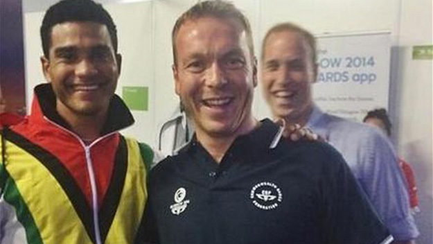 Prince William joins the royal photobombing trend