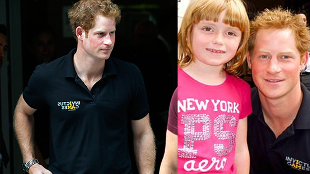 Prince Harry makes one little girl's day