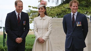 Prince William, Kate Middleton, and Prince Harry WWI memorial