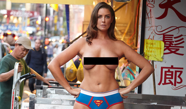 Australian curvy model bares all in topless shoot in NYC
