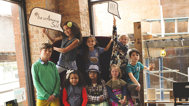Mum shoots back-to-school ads featuring children with disabilities