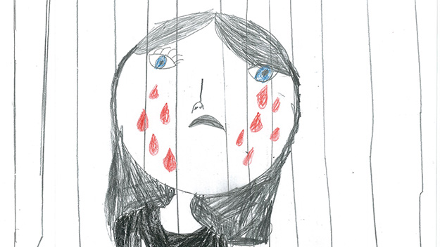 Heartbreaking new drawings by kids in detention