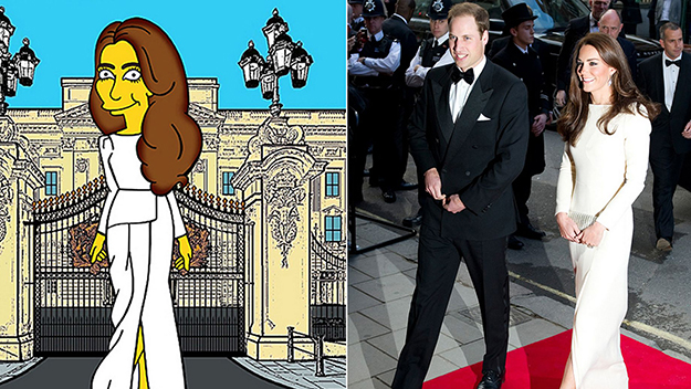 The Duchess gets 'Simpsonised'