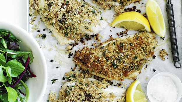 Crispy parmesan fish fillets