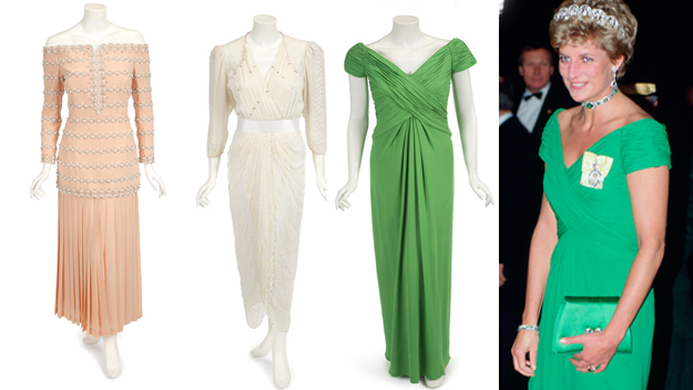 Princess Diana's iconic gowns up for auction