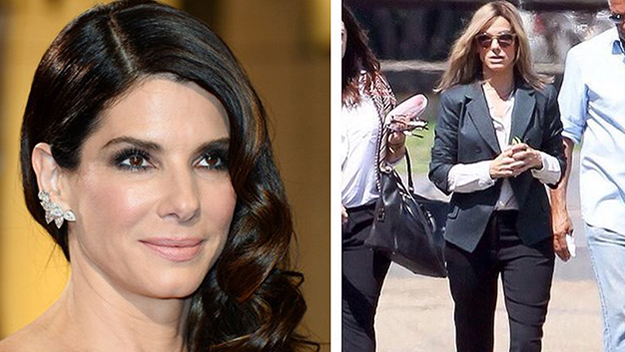 Sandra Bullock goes back to blonde