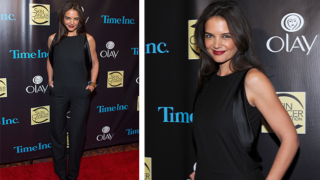 Katie Holmes wows in black jumpsuit