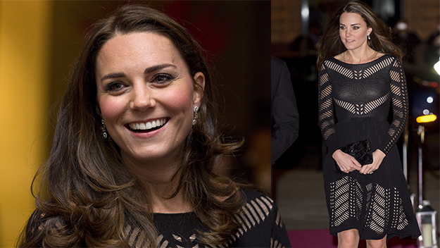 Kate glows in black dress at charity gala