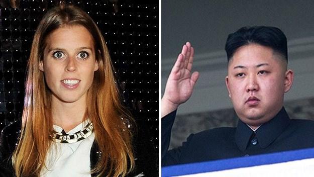 Princess Beatrice and Kim Jong-un.