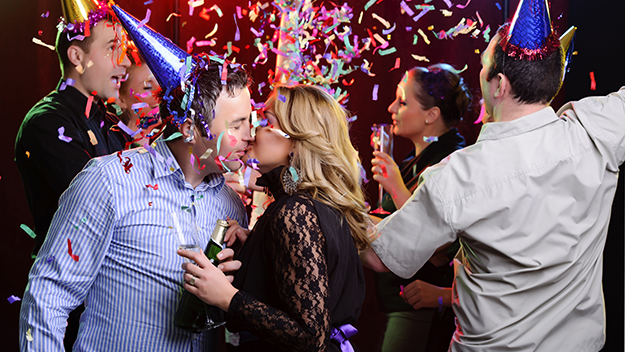 Six ways to get a New Year's Eve kiss