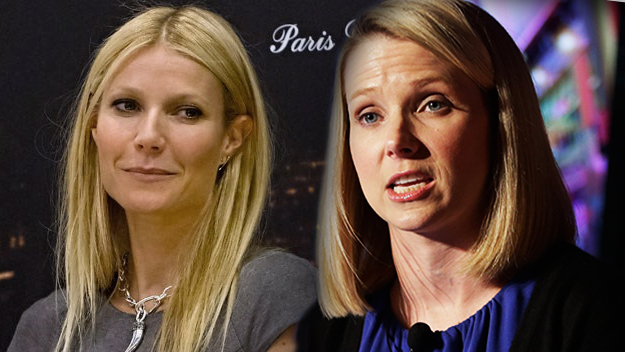 Gwyneth Paltrow and Yahoo! CEO Marissa Mayer.