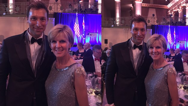 Ian Thorpe with Julie Bishop at the Australia Day Ball.