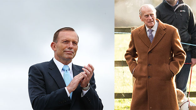 Tony Abbott makes Prince Philip a knight on Australia Day