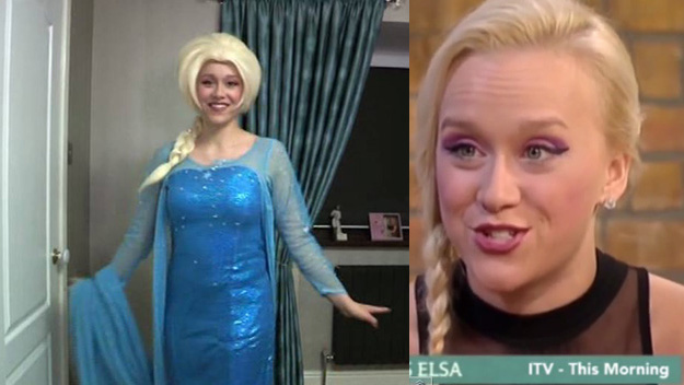 British woman Kristy Taylor spends life dressed up as Elsa from Frozen to beat her depression