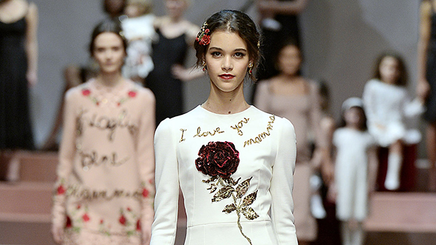 Viva la Mamma! Dolce and Gabbana celebrates mothers on the runway