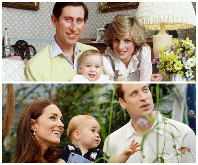 How cute: Baby George looks so much like Baby William.