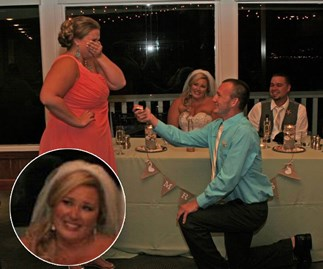 Man proposes to girlfriend at another woman's wedding
