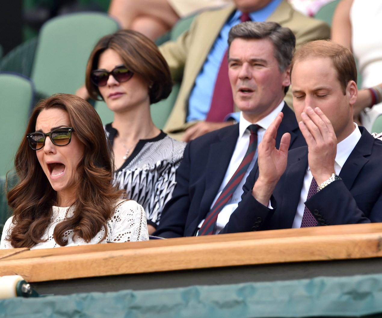 Royals get worked up at Wimbledon