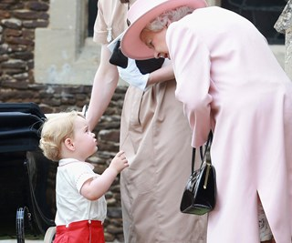 Queen delighted with gorgeous George