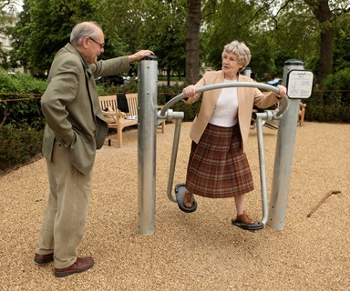 Now there's playgrounds for grandparents