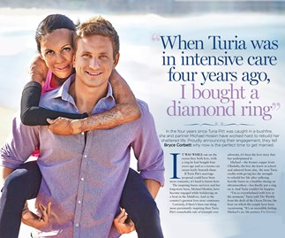 Turia Pitt and fiancé Michael Hoskin: Their EXCLUSIVE engagement story