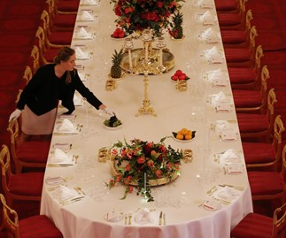 Queen's dining table rules revealed
