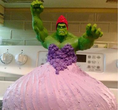 Four-year-old twin birthday cake fail