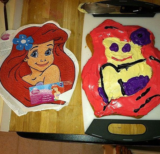 little mermaid cake fail