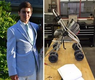 High school student builds adaptable stroller for paraplegic mother