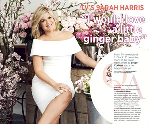 Sarah Harris on pregnancy, husbands and haters