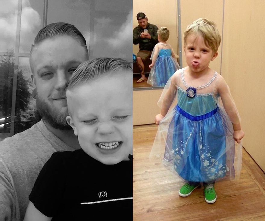 Dad's awesome response to his son's costume goes viral