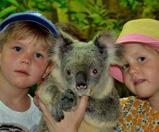 Princess Mary's twins pose with koala for their fifth birthday