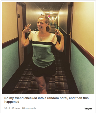 Woman's awkward outfit choice goes viral