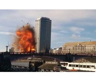 Terror as London bus explodes
